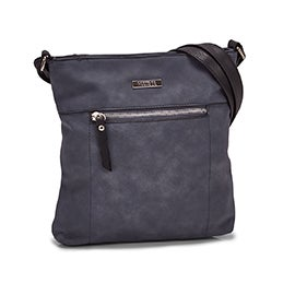 Roots Women's R5547 NORTH/SOUTH denim crossbody bag