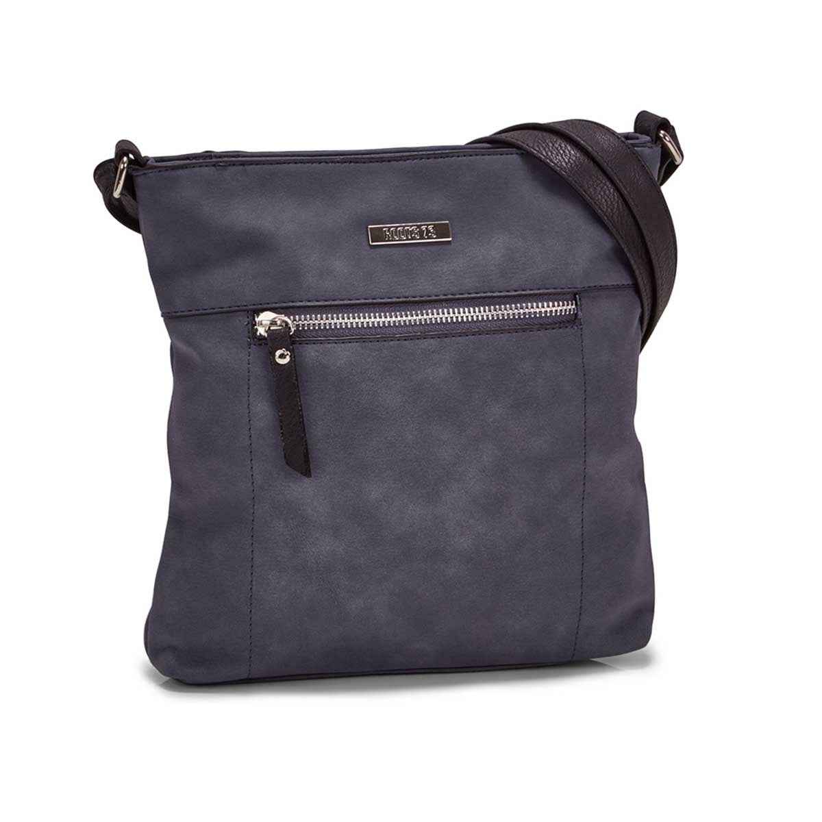 Women's R5547 NORTH/SOUTH denim crossbody bag