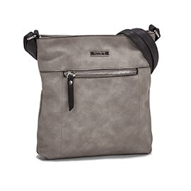 Roots Women's R5547 NORTH/SOUTH  grey crossbody bag