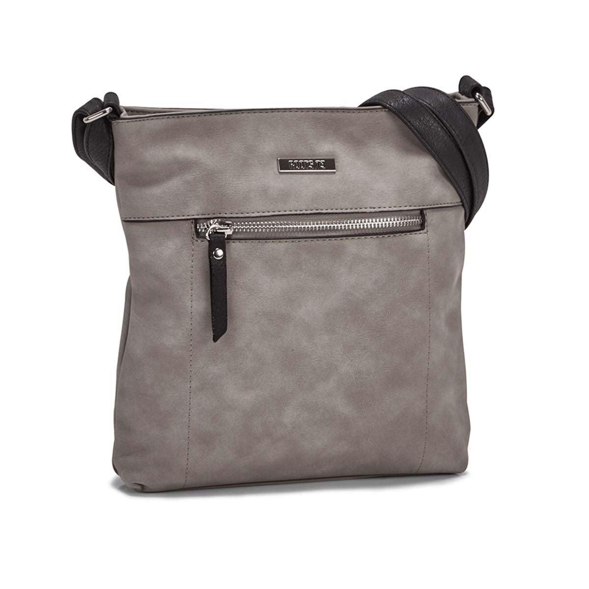 Women's R5547 NORTH/SOUTH  grey crossbody bag