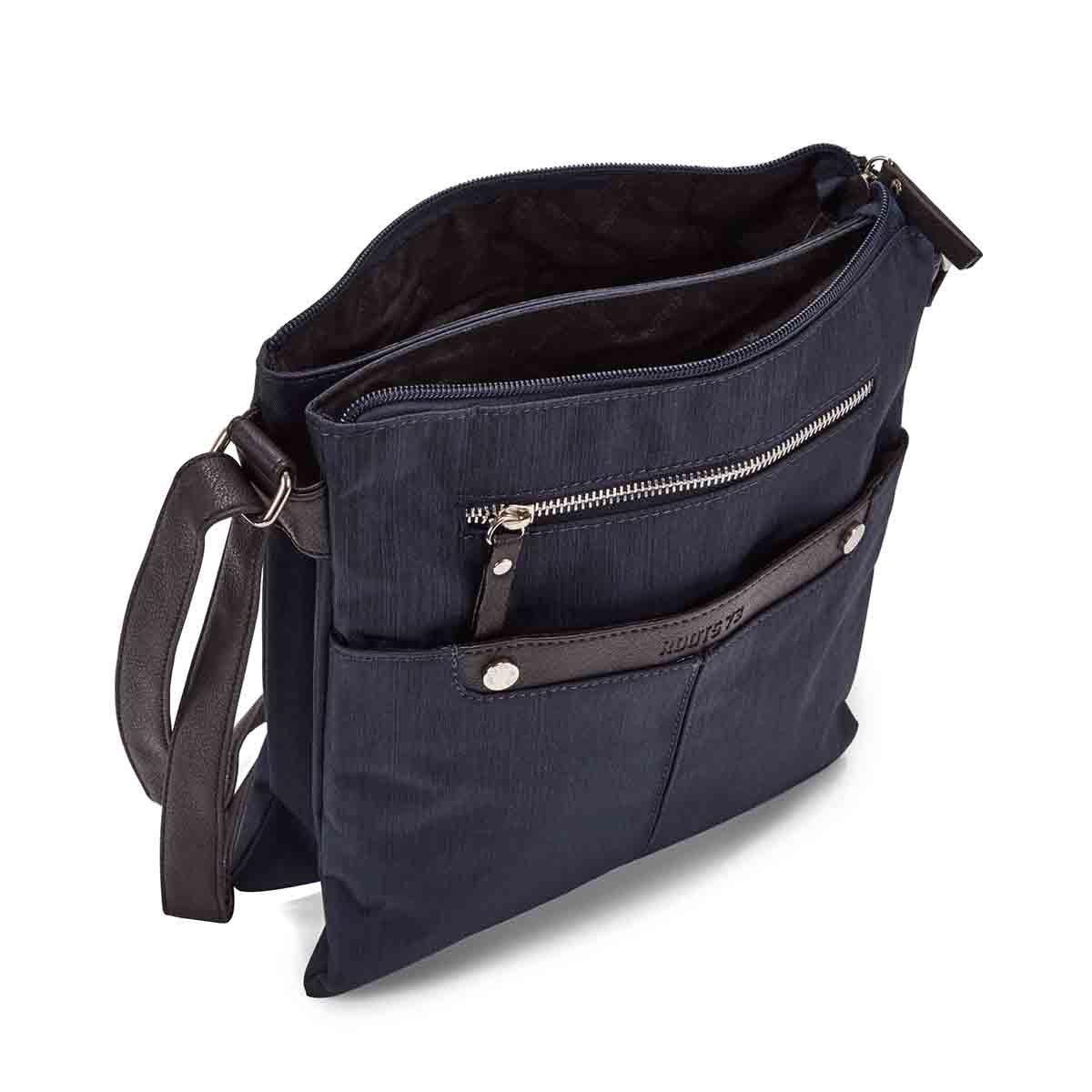Lds nvy crossdye 2 compartment crossbody