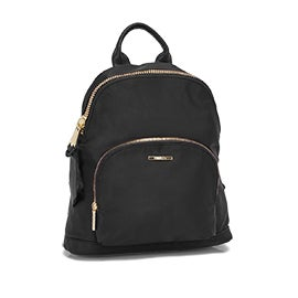 Roots Women's R5569 black jumbo zipper backpack