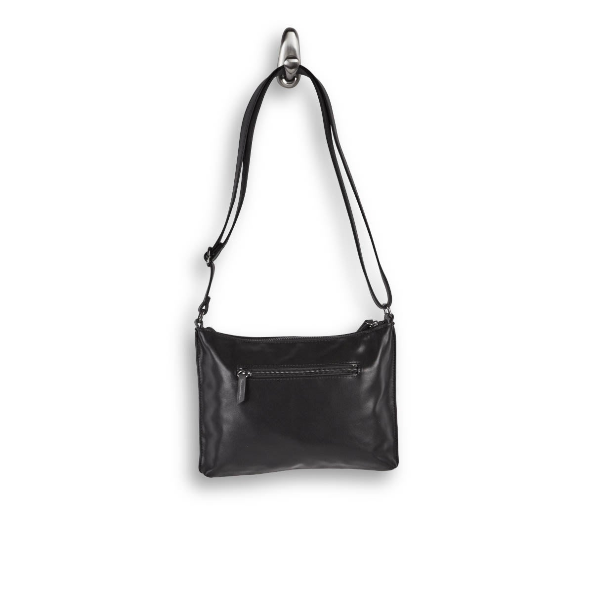 Lds Roots73 blk top zip crossbody