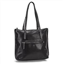 Roots Women's R5632 black large tote bag
