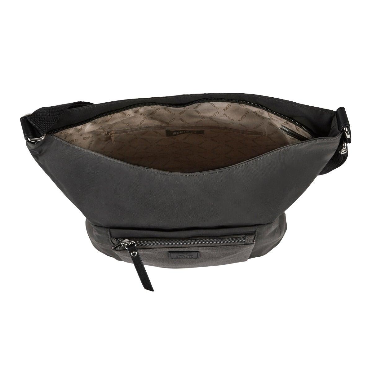 Lds Roots73 grey front pocket hobo bag