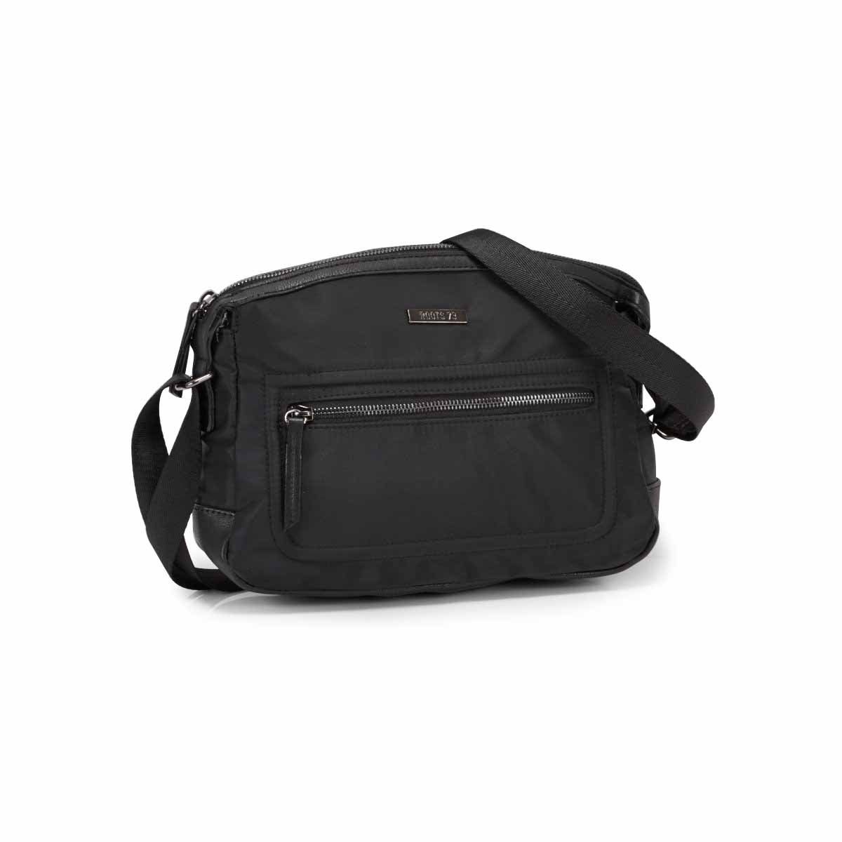 Lds Roots73 black curved top crossbody