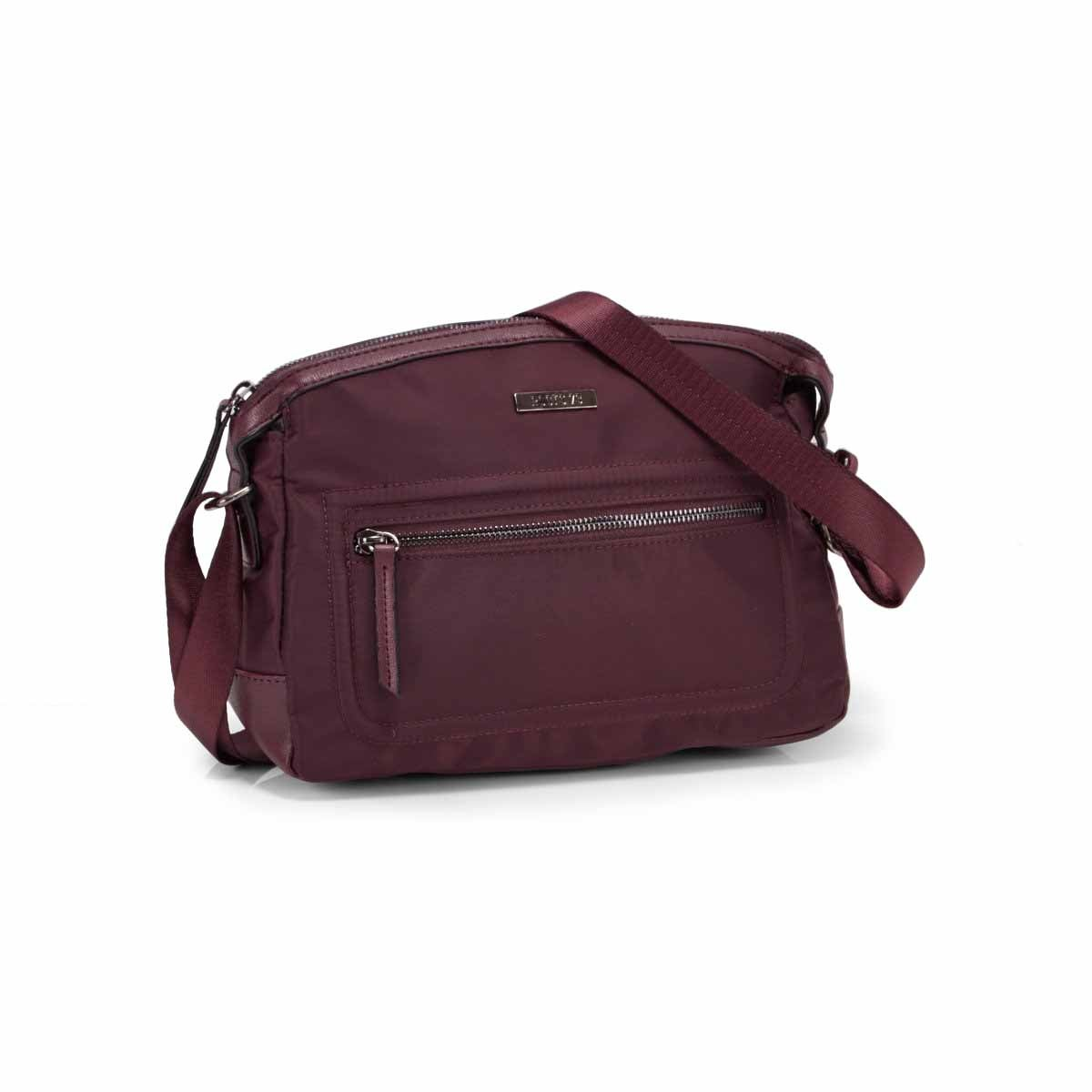 Lds Roots73 plum curved top crossbody