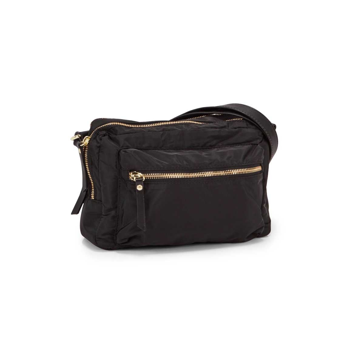 Lds Roots73 blk 2 compartment crossbody