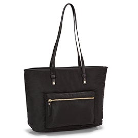 Roots Women's R5687 black large tote bag