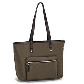 Roots Women's R5687 khaki large tote bag