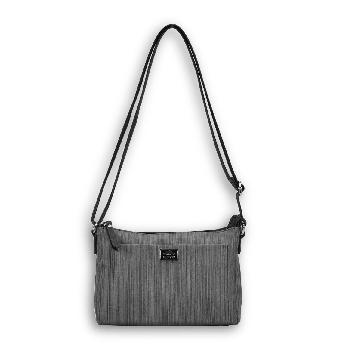 Lds Roots73 grey front pocket crossbody