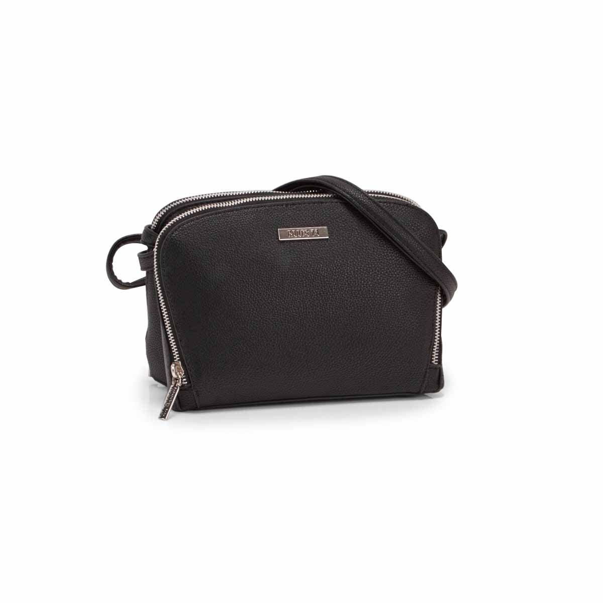 Lds Roots73 black 2 compartment bag