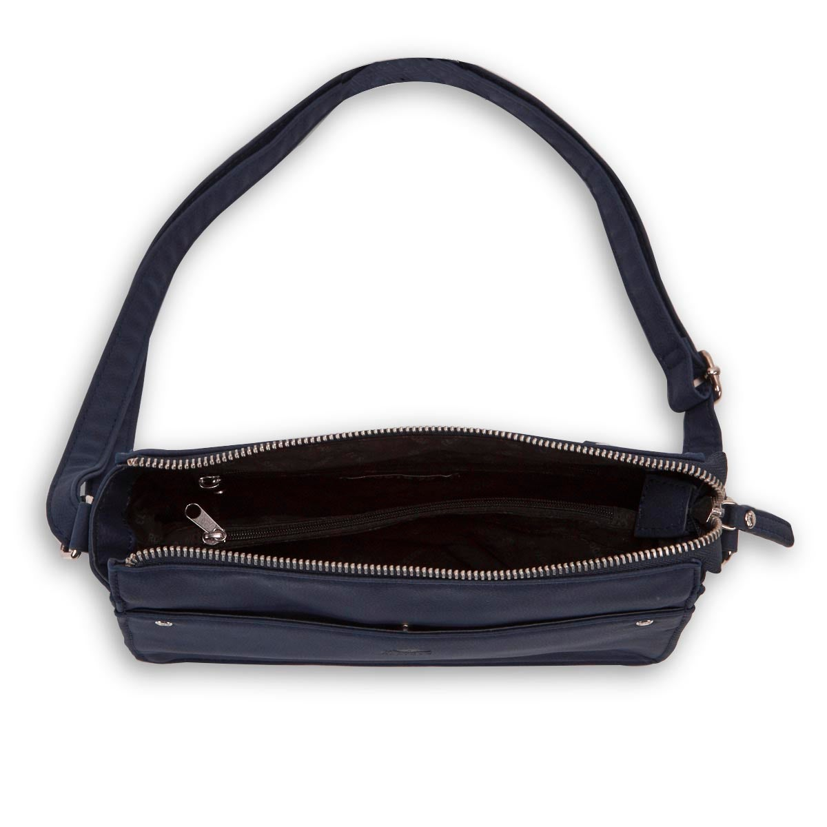 Lds Roots73 navy east west crossbody