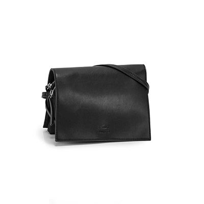 Roots Women's R5718 black full flap crossbody bag