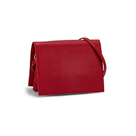 Roots Women's R5718 red full flap crossbody bag