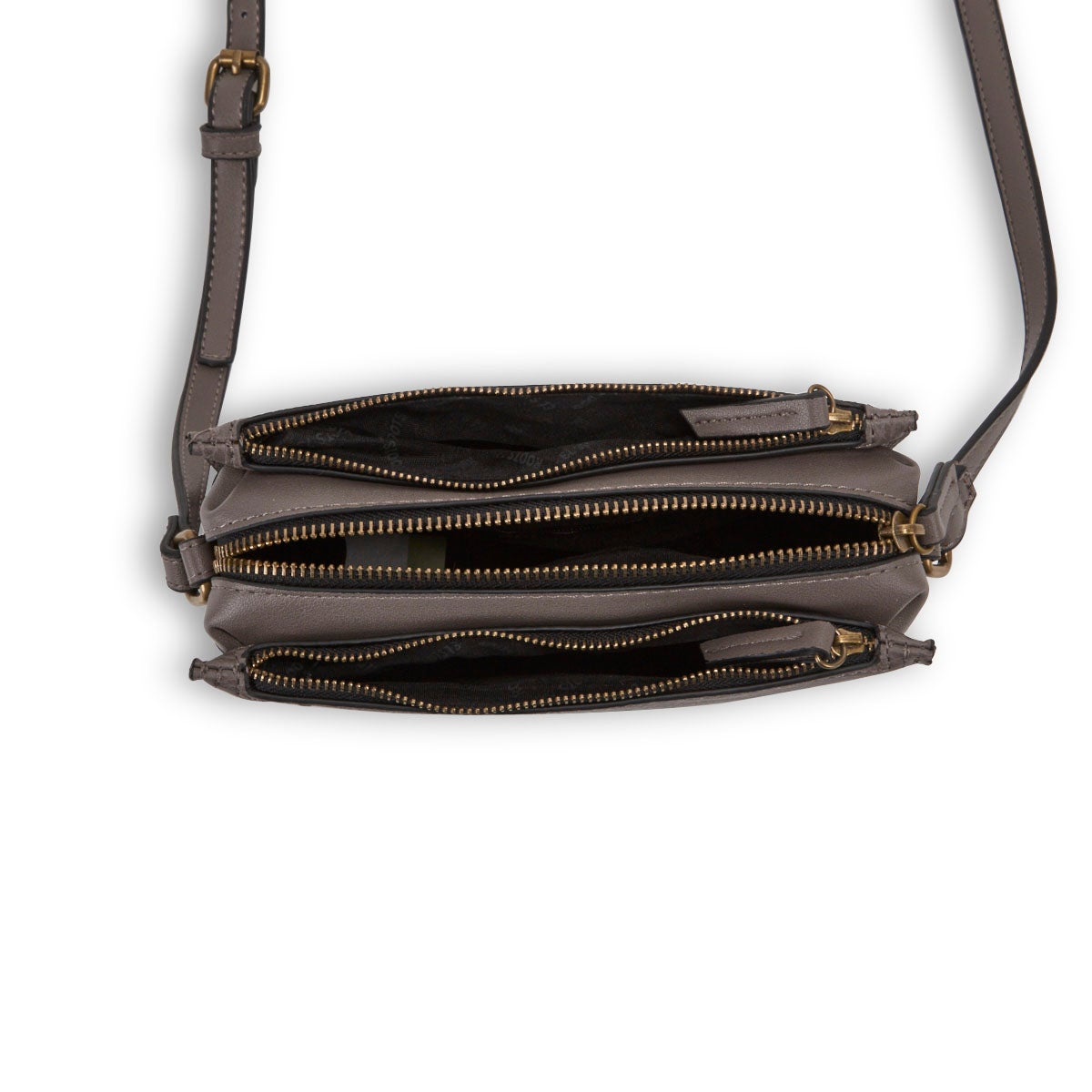 Lds Roots73 gry 3 compartment crossbody