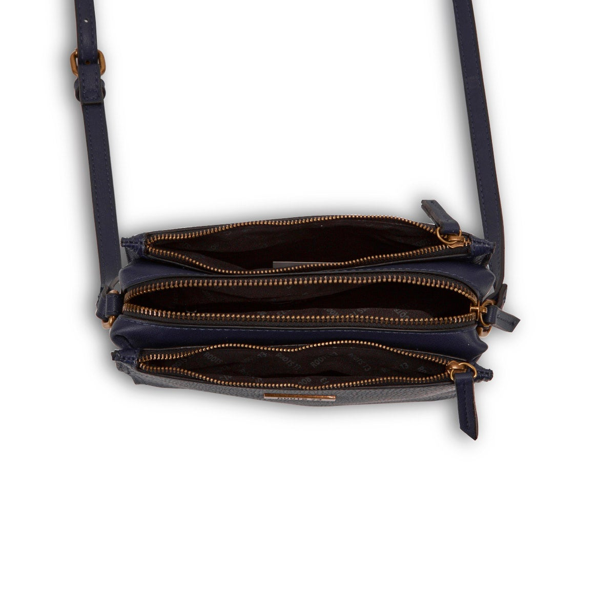 Lds Roots73 nvy 3 compartment crossbody