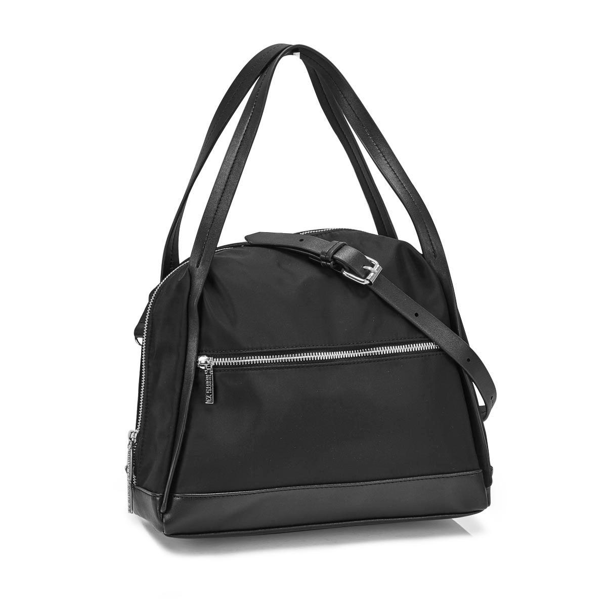 Lds Roots73 black top zip satchel