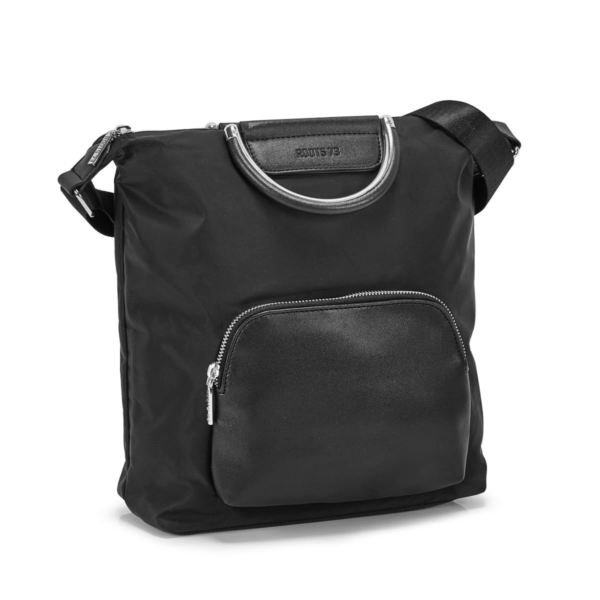 Lds Roots73 black 2 handles hobo bag