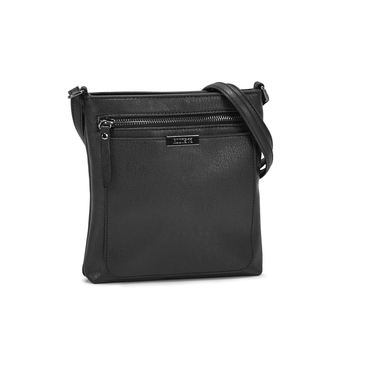 Lds Roots73 black top zip crossbody bag
