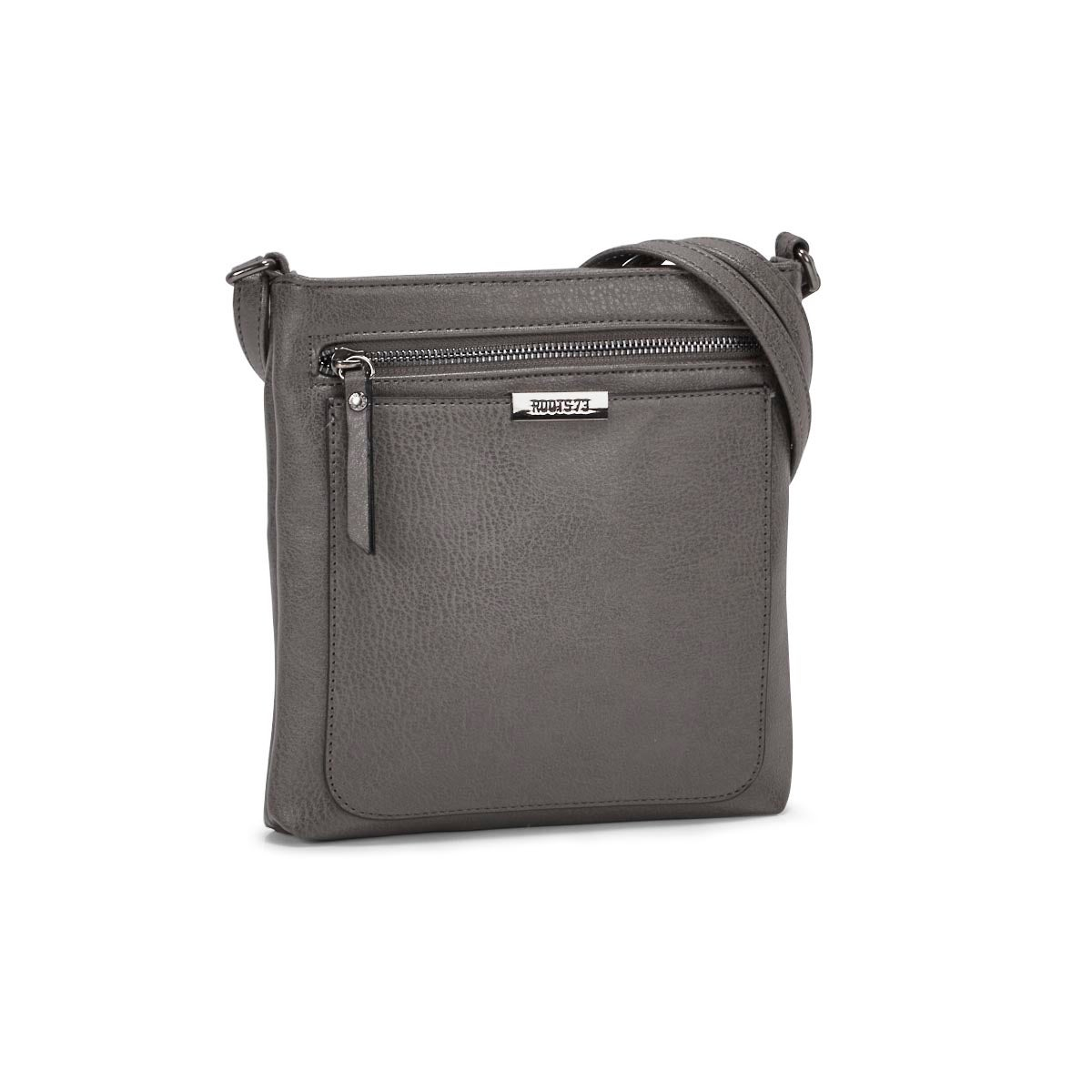 Lds Roots73 grey top zip crossbody bag