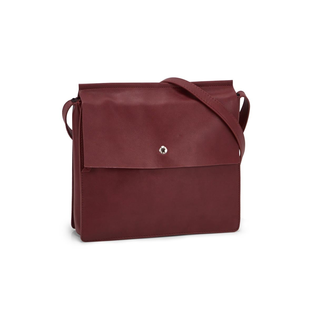 Lds Roots73 burgundy flapover crossbody