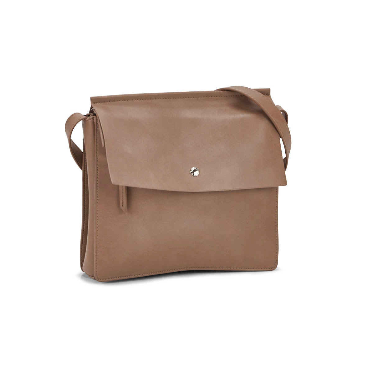 Lds Roots73 taupe flapover crossbody