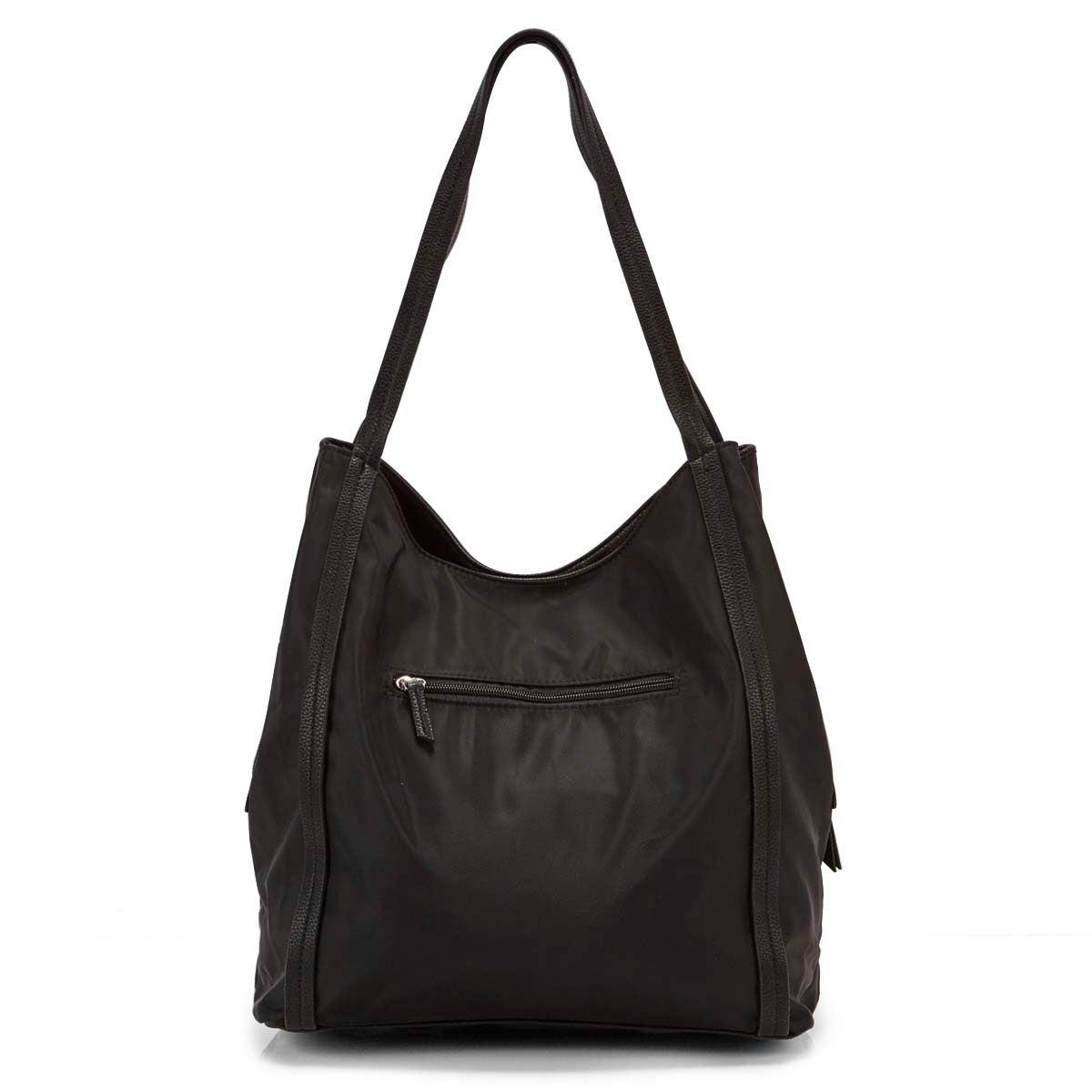 Lds Roots73 black 3 compartment satchel