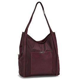 Roots Women's R5738 bordeaux 3 compartment satchel