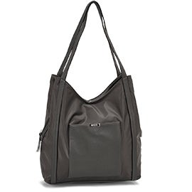 Roots Women's R5738 grey 3 compartment satchel