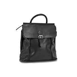 Roots Women's R5740 black flapover mini backpack