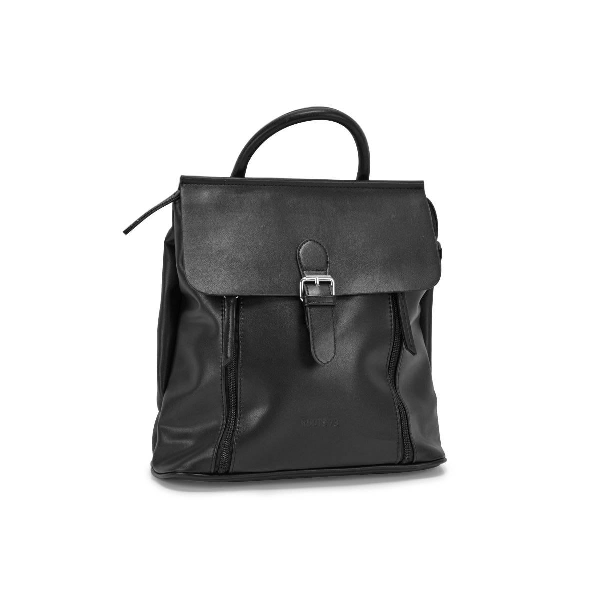 Lds Roots73 black flapover mini backpack