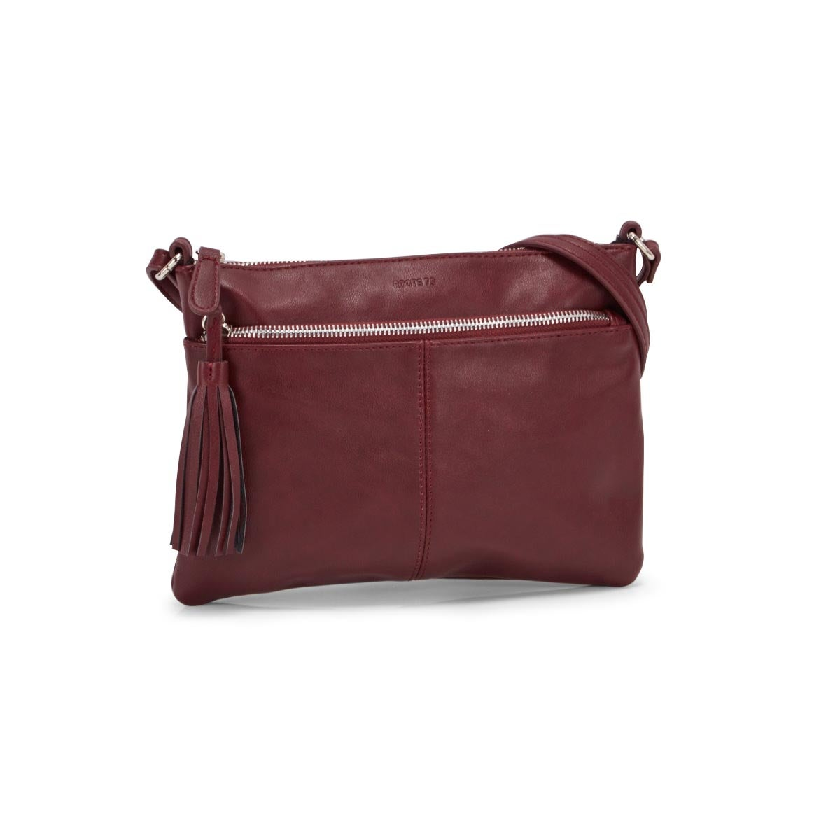 Lds Roots73 burgundy tassel crossbody