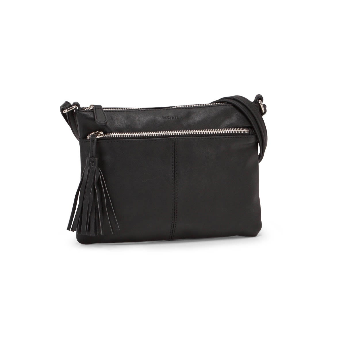 Lds Roots73 black tassel crossbody
