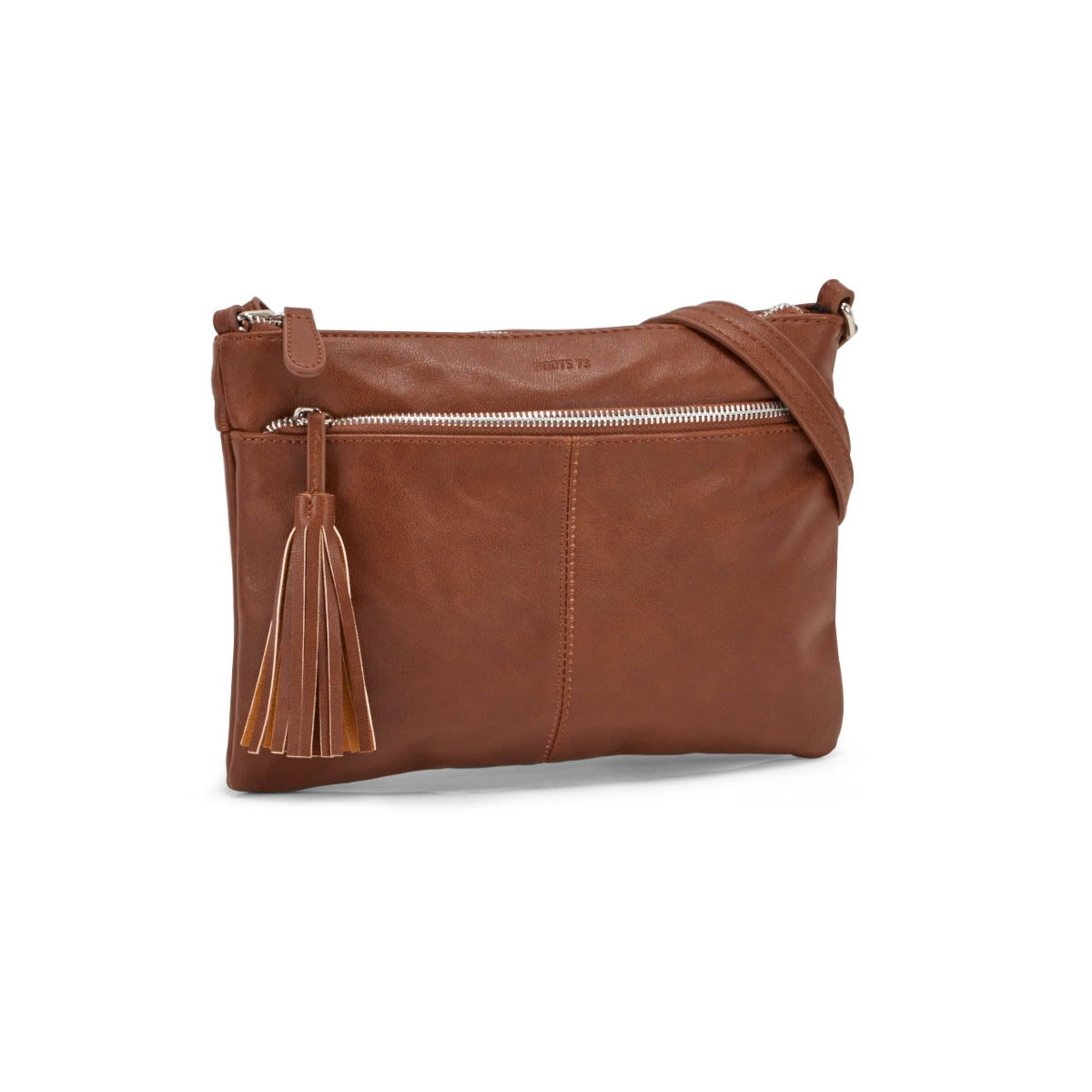 Lds Roots73 cognac tassel crossbody