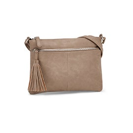 Roots Women's R5741 taupe crossbody bag