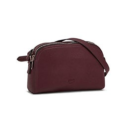 Roots Womens R5746 burgundy round top crossbody bag