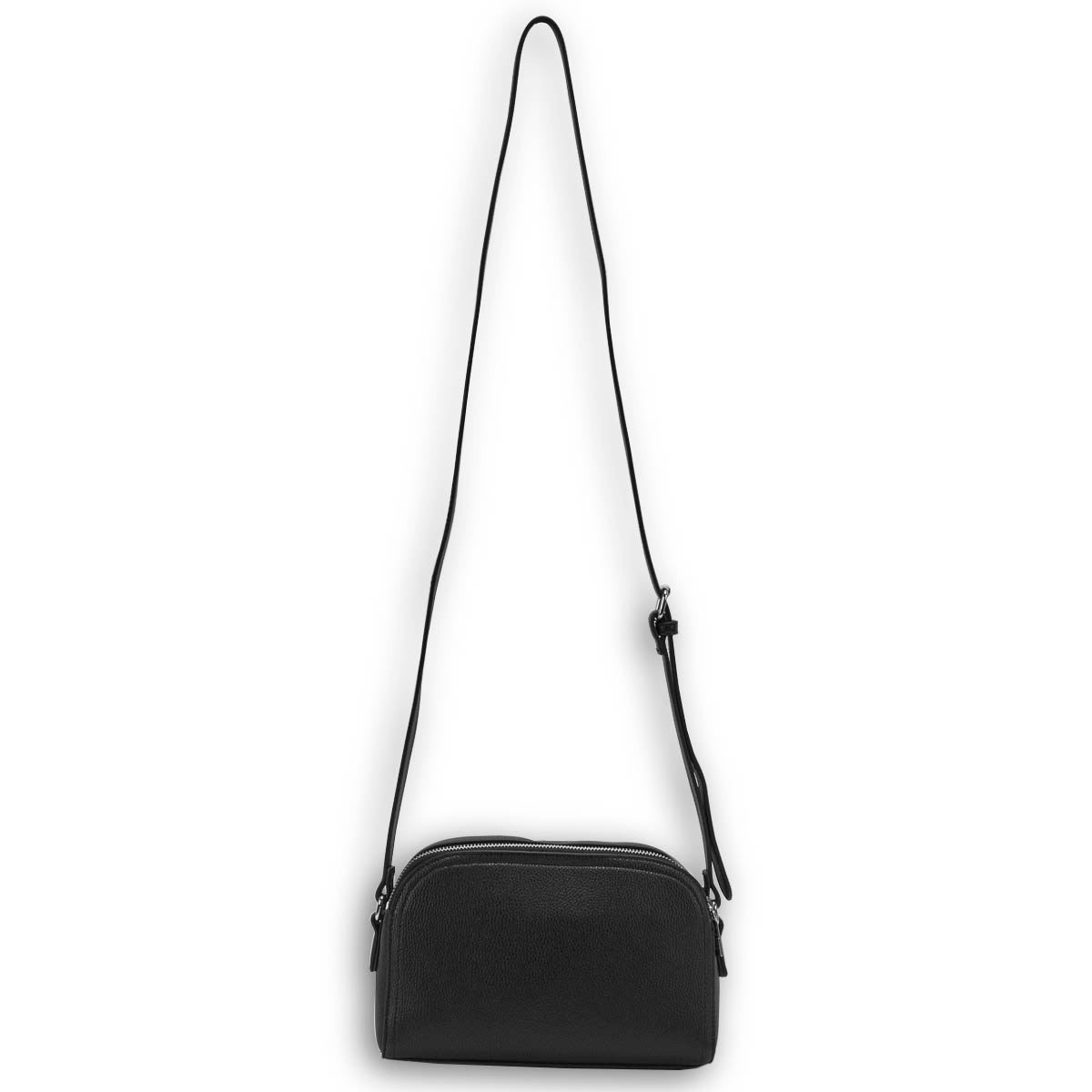 Lds Roots73 black round top crossbody