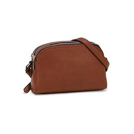 Roots Womens R5746 cognac round top crossbody bag