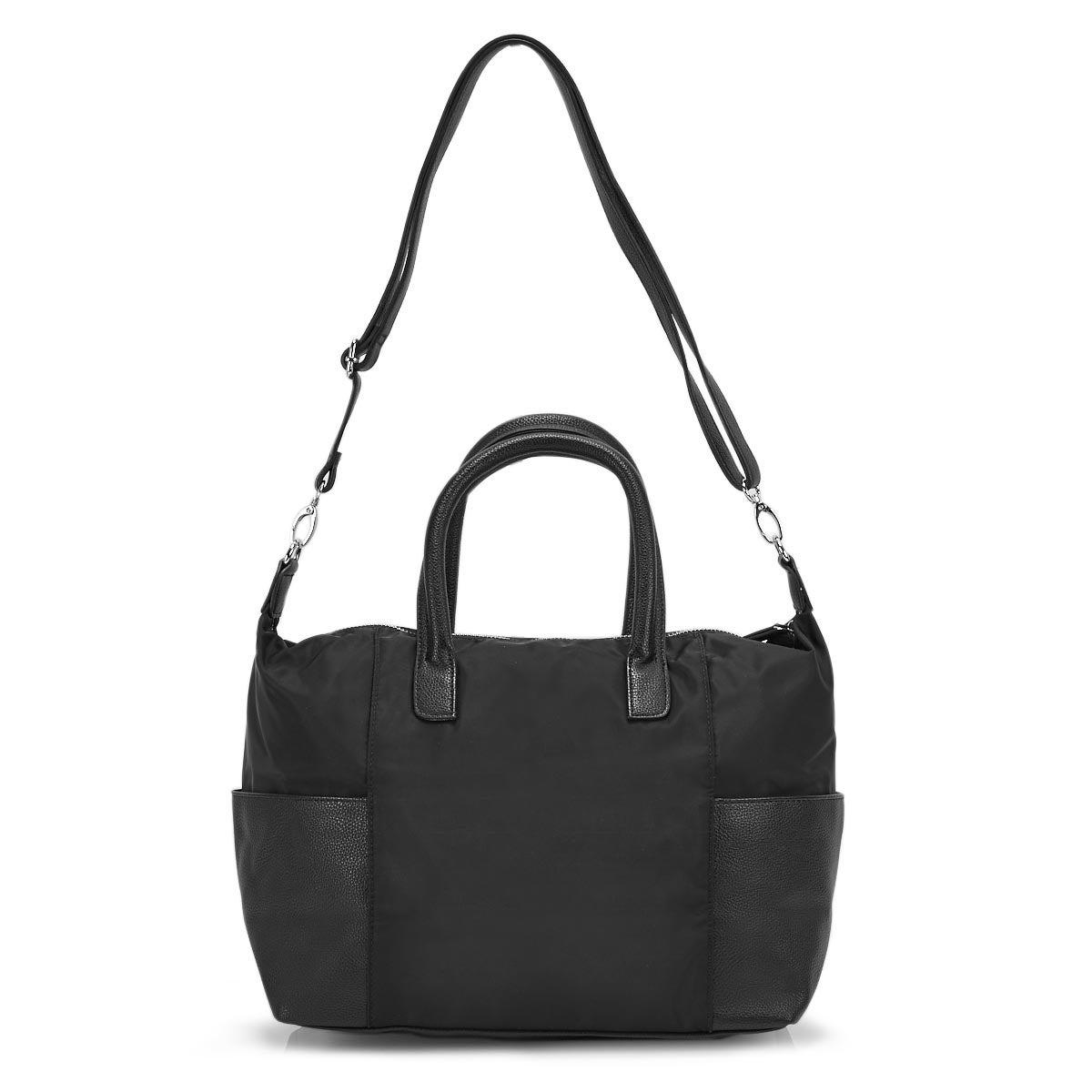 Lds Roots73 black top handle satchel