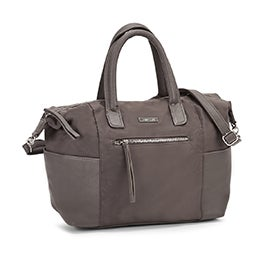Roots Women's R5753 taupe top handle satchel