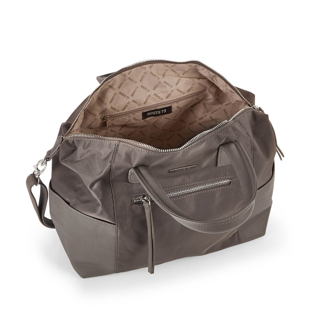 Lds Roots73 taupe top handle satchel