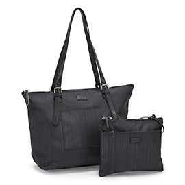 Roots Women's R5755 black 2 n 1 tote bag