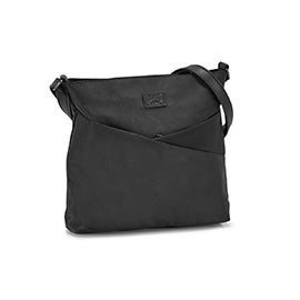 Roots Women's R5767 black north south cross body bag