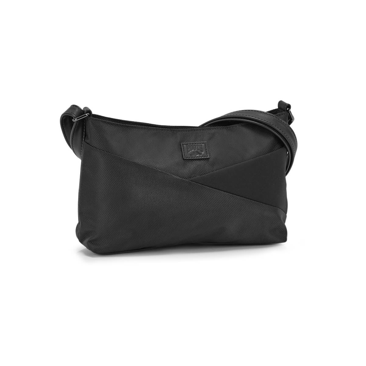 Lds Roots73 blk east/west crossbody bag
