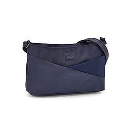 Roots Women's R5769 navy east/west cross body bag