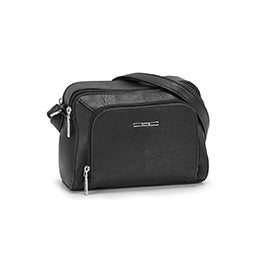 Roots Women's R5781 black cross body camera bag