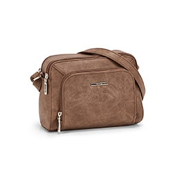 Roots Women's R5781 camel cross body camera bag
