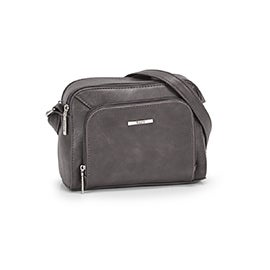 Roots Women's R5781 grey cross body camera bag