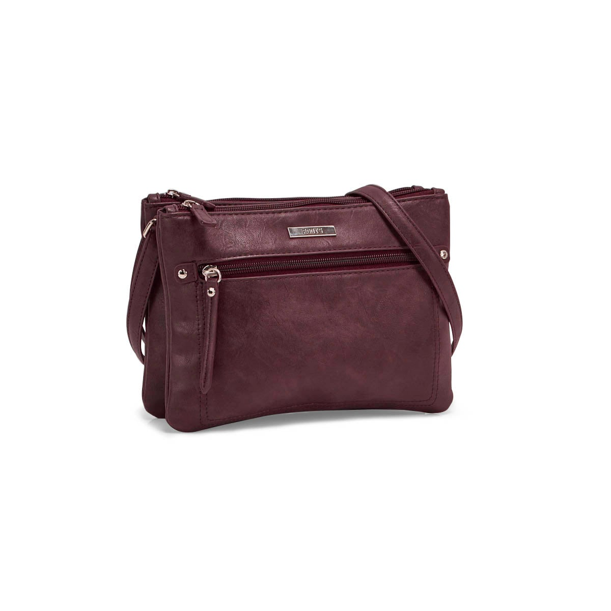 Lds Roots73 burgundy 2 cmptmnt crossbody